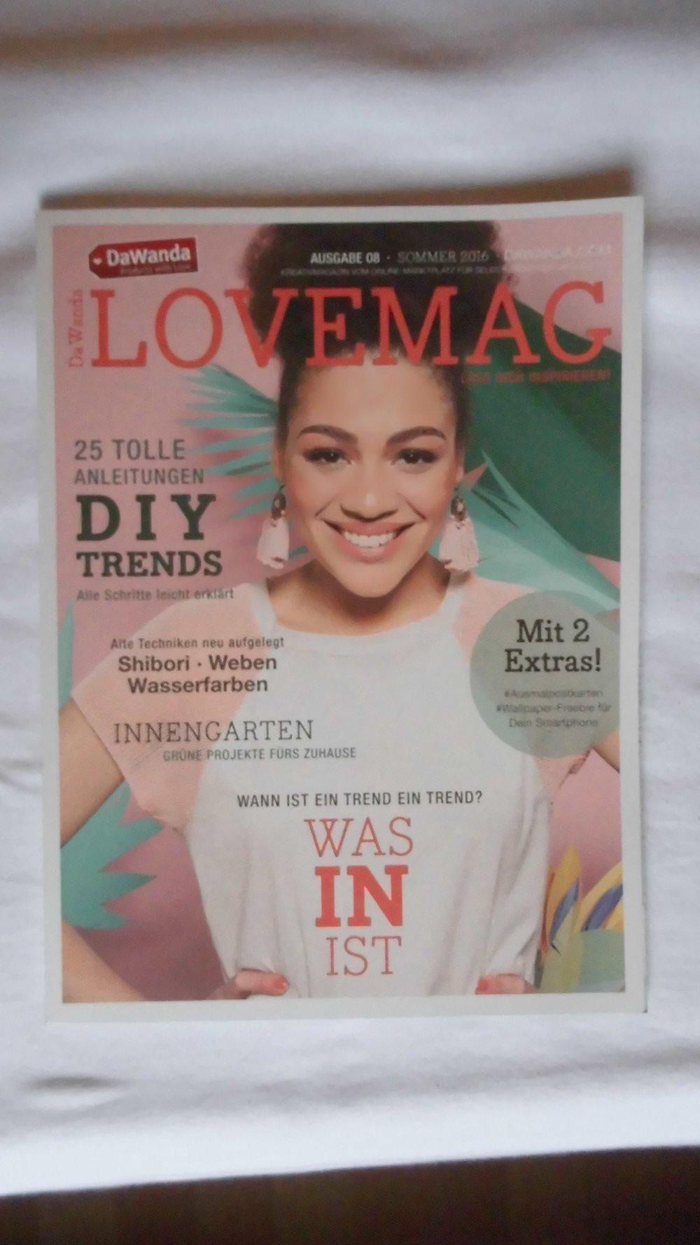 lovemag diy zeitschrift 08/2016 :: kleiderkorb.de