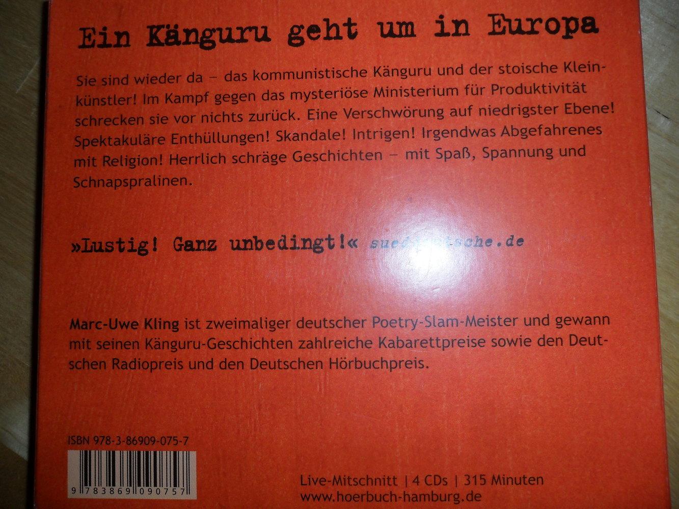Das Känguru Manifest Marc-Uwe Kling :: Kleiderkorb.de