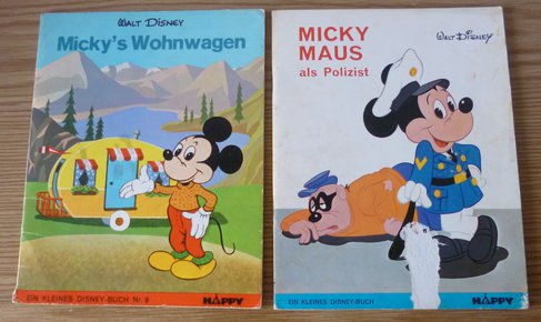 walt disney micky maus als polizist micky s wohnwagen comic. Black Bedroom Furniture Sets. Home Design Ideas