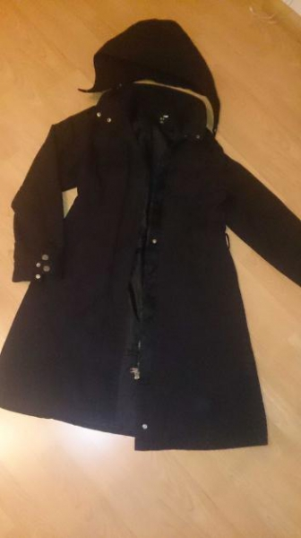 Langer mantel schwarz h m for Schwarzer langer mantel