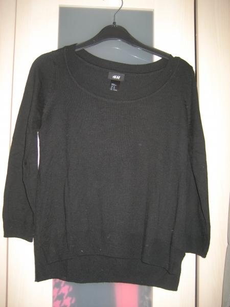 H M schwarzen Pulli Pullover vorne kurz hinten lang    Kleiderkorb.de 62cf963f8e