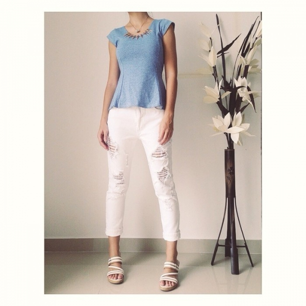 tolle boyfriend jeans wei destroyed xs 34. Black Bedroom Furniture Sets. Home Design Ideas