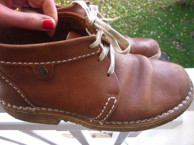 Jahre Schuhe Vintage 42 Öko Leder 41 70er Schnürschuhe Braun Boots rdCoxeB