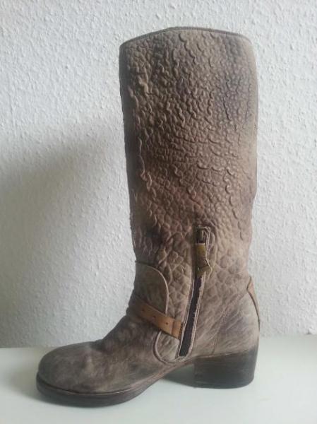 3d056be636 Luxus Designer Leder Stiefel Boots Metall Schnalle Reitstiefel ...