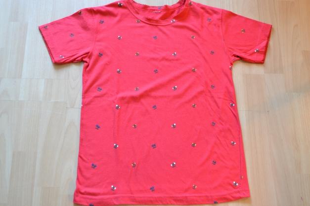 rotes Shirt mit Blümchen, Gr. 36 38    Kleiderkorb.de 79b8b838bb