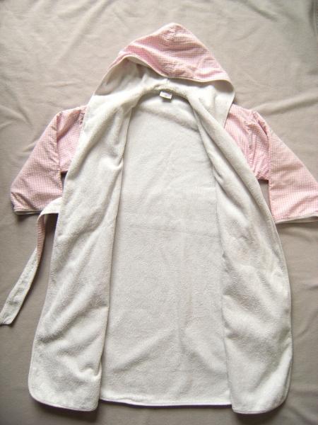 bademantel f r m dchen frottee rosa wei waffelpique 128 134 tavolino. Black Bedroom Furniture Sets. Home Design Ideas