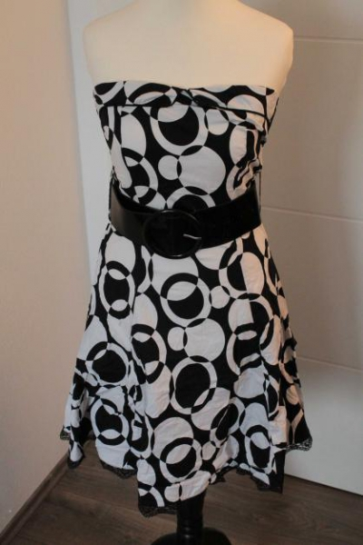 schwarz Kleid weißes weißes Amisu schwarz Amisu schwarz Amisu Kleid E9IYH2WD