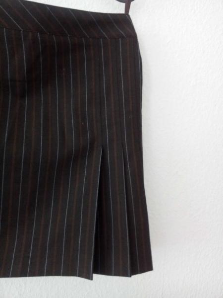 NEU! Esprit Rock, braun mit Linien, Länge midi in A-Form ... 12adef8098
