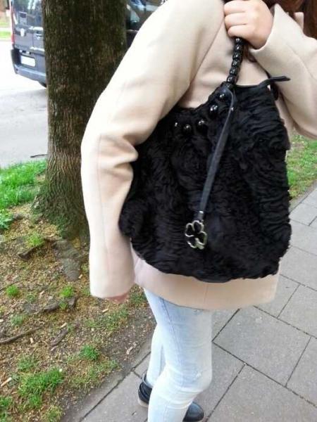 Tasche Blumen Handtasche Schwarze Doca Umhängetasche Muster Mit thQrCsd