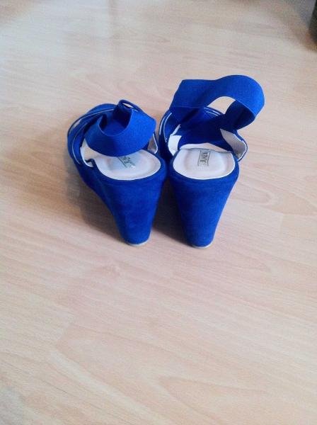 Mit Sandaletten Königsblaue Keilabsatz Sandaletten Königsblaue Mit 3Rj54AL