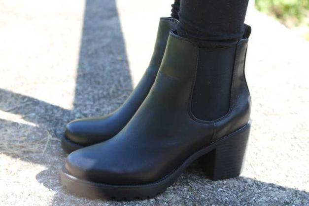 noname blockabsatz chelsea boots ankle schwarz neu. Black Bedroom Furniture Sets. Home Design Ideas
