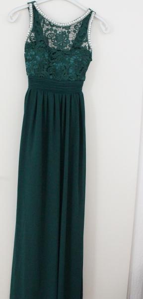 Los Angeles Fang neue niedrigere Preise Smaragdgrünes Abendkleid mit passender Fliege und ...