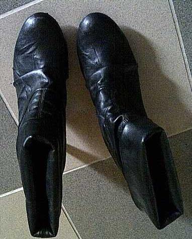 Lederstiefelette schwarz Gr. 39