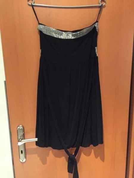 Jennifer Taylor Forever 18 Bandeau Kleid S/36 schwarz silber ...