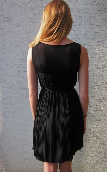 Plissee Kleid Schwarz Babydoll Vintage H M Lace Kleiderkorb De