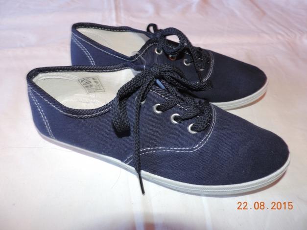 Quick Alyssa Schuh Sneaker Halbschuh blau dunkelblau weiß Größe 37