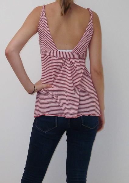 f9741699e082 Miss Sixty, Top, rot+weiß gestreift, V-Ausschnitt    Kleiderkorb.de