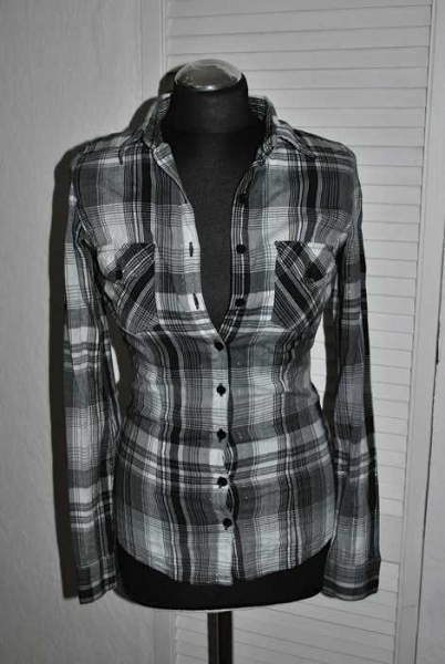 holzf llerhemd amisu new yorker karohemd bluse hemd xs 32. Black Bedroom Furniture Sets. Home Design Ideas