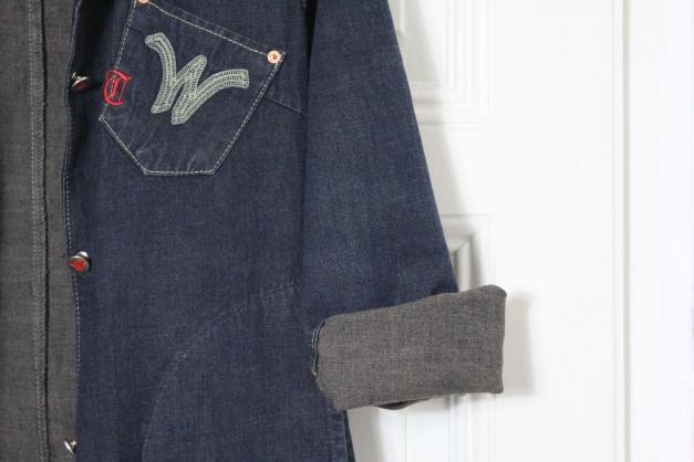 Langer jeansmantel