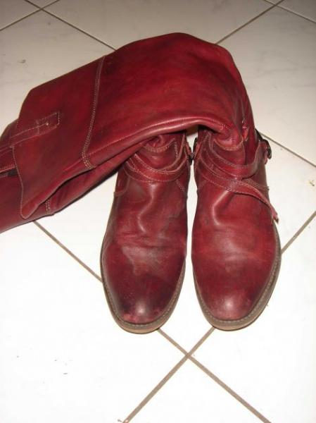 abgerockte tamaris boots stiefel cowboy echtleder bordeaux rot echtes leder 39 western. Black Bedroom Furniture Sets. Home Design Ideas