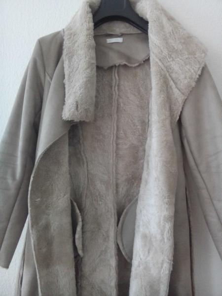 Promod Mantel mit Fellimitat, Farbe Taupe    Kleiderkorb.de 753bf86109