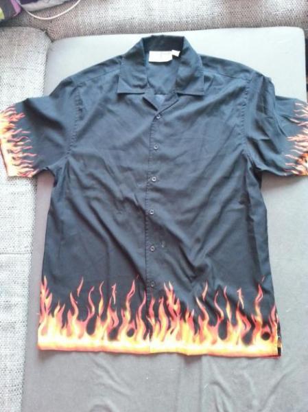 more photos 838e6 c70de Männerhemd mit flammen