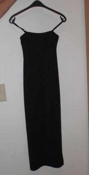 sexy schwarzes Kleid Spaghettiträger Abendkleid Gr. S / Yessica ...