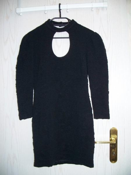 True vintage vintage schwarzes 80er kleid mit - 80er damenmode ...