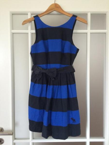 Kleid blau weiss geringelt