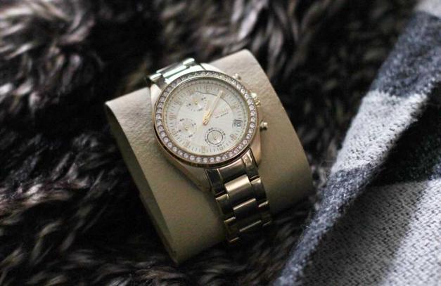 Fossil Damenuhr Decker Chronograph Edelstahl Gold
