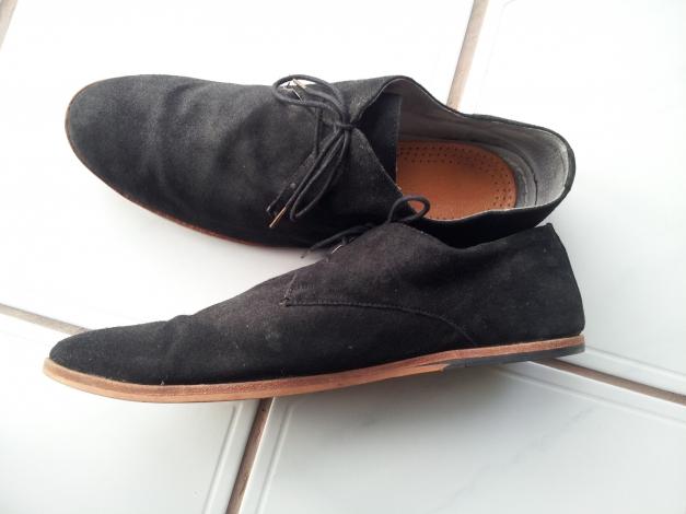 quality design 8e311 7b727 Schuhe, Schwarz, Frank Wright, Wildleder, Größe 11/45