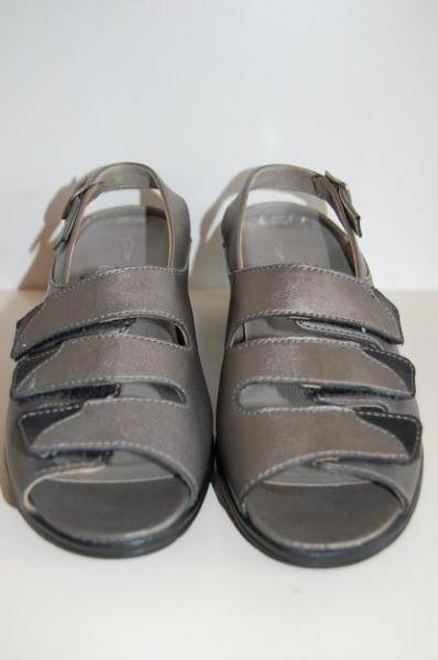 ara sandalen gr 4 36 2 3 silber weite h. Black Bedroom Furniture Sets. Home Design Ideas