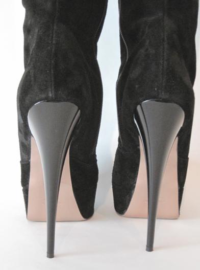 sexy high heels wildleder overknee stiefel mit plateau. Black Bedroom Furniture Sets. Home Design Ideas
