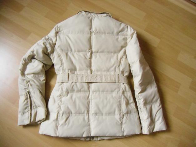 buy online ce22a 03614 Zero Winterjacke Daunenjacke beige mit Gürtel Gr. 36 - wie neu