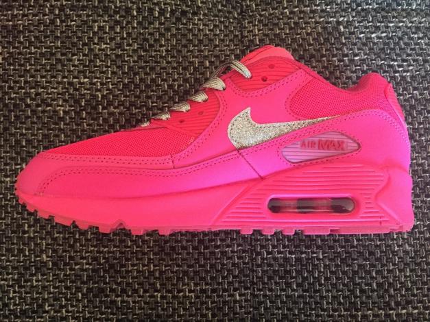 Nike Air Max Blau Glitzer