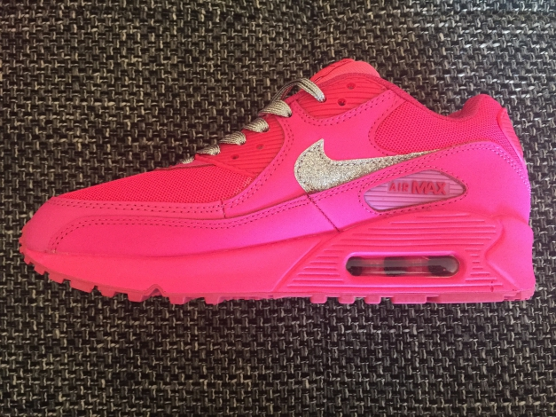 ... Nike Air Max 90 Hyper 0f46423 Pink Glitzer Sonderedition! cefba566cff39