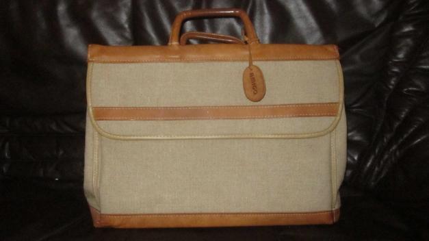 Tasche Shopper Leinen Leder Vintage Aktentasche Hipster Blogger Bag Ledertasche
