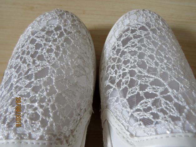 promo code d1ce7 eaa3d Plateau Sneakers Transparent Weiß Spitze Slipper Slip on