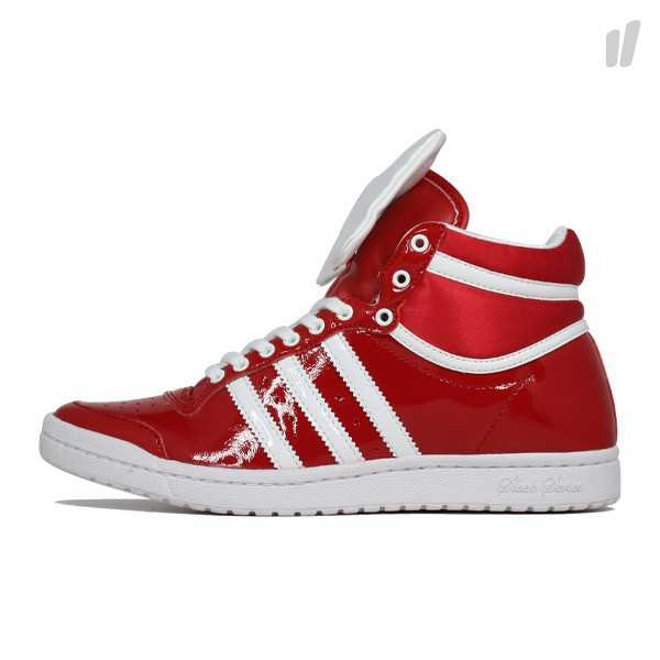 ADIDAS ORIGINALS TOP TEN HI SLEEK 38,5 Rot Lack Sneaker