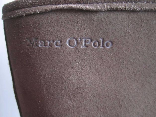 marc o 39 polo marco polo gef tterte wedges keilabsatz stiefel leder taupe gr 39. Black Bedroom Furniture Sets. Home Design Ideas