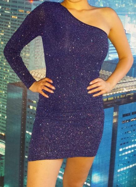 Kleid hellblau glitzer