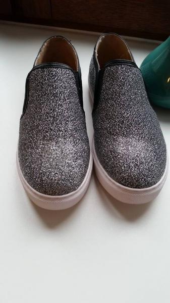 slipper sneaker silber glitzer gr 38 neu. Black Bedroom Furniture Sets. Home Design Ideas