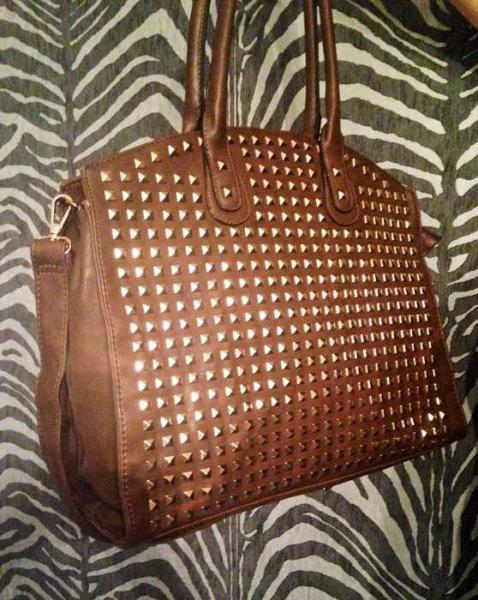 cc71554805829 H D - Nieten Handtasche Tasche in braun NEU und unbenutzt ...