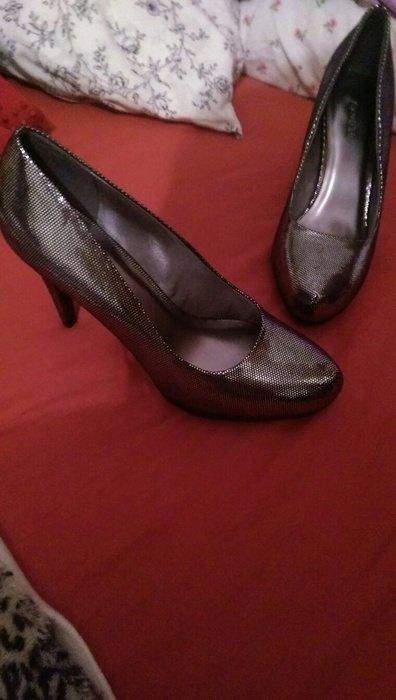 graceland silber metallic high heels. Black Bedroom Furniture Sets. Home Design Ideas