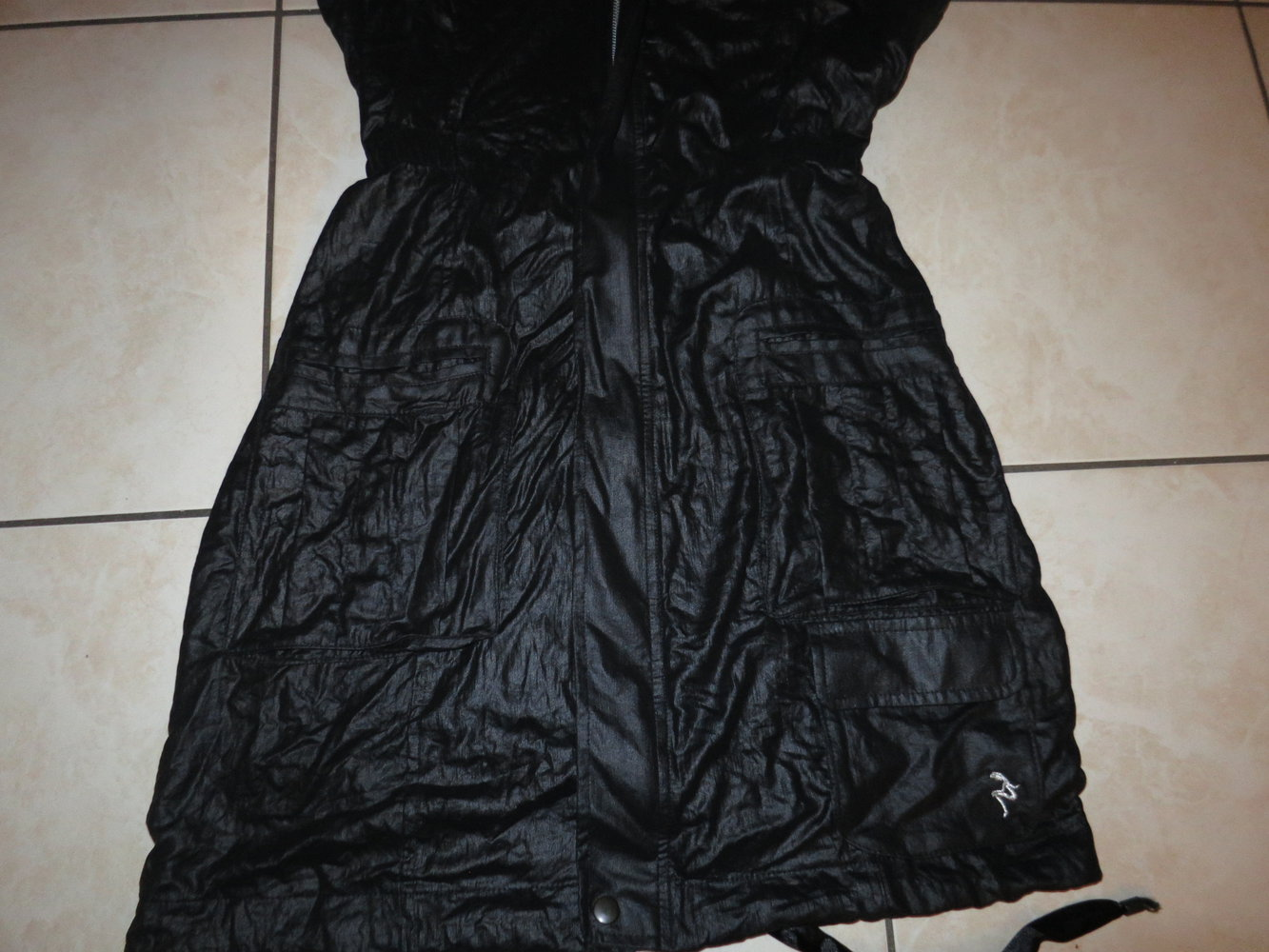 677b7bce03a16e ... Neues elegantes Kleid Cocktailkleid in Schwarz Gr 38 mit Trägern ...