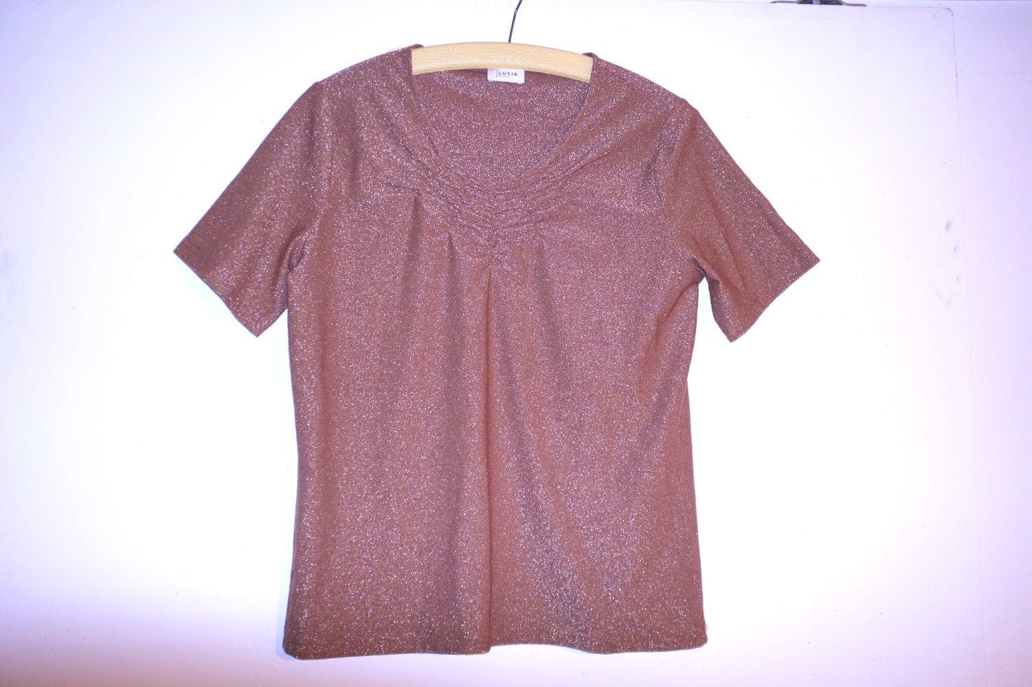 best website b0fbe 5697a Vintage Lurex Glitzer Shirt Bluse