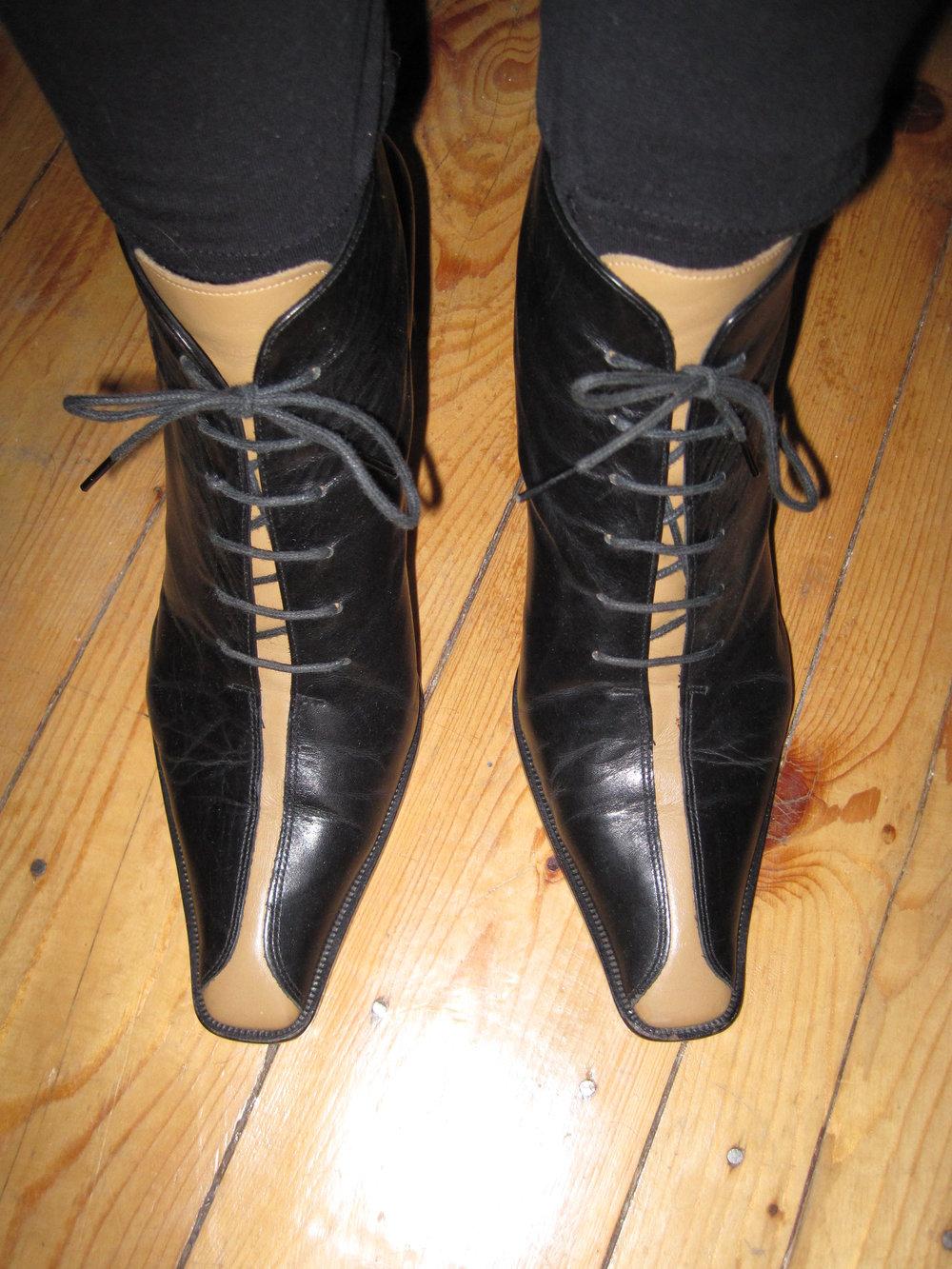 Ausgefallene Bernd Berger Leder Ankle Boots Stiefeletten Schnürer Vintage  Hippie 38 ... e16e62ed0b