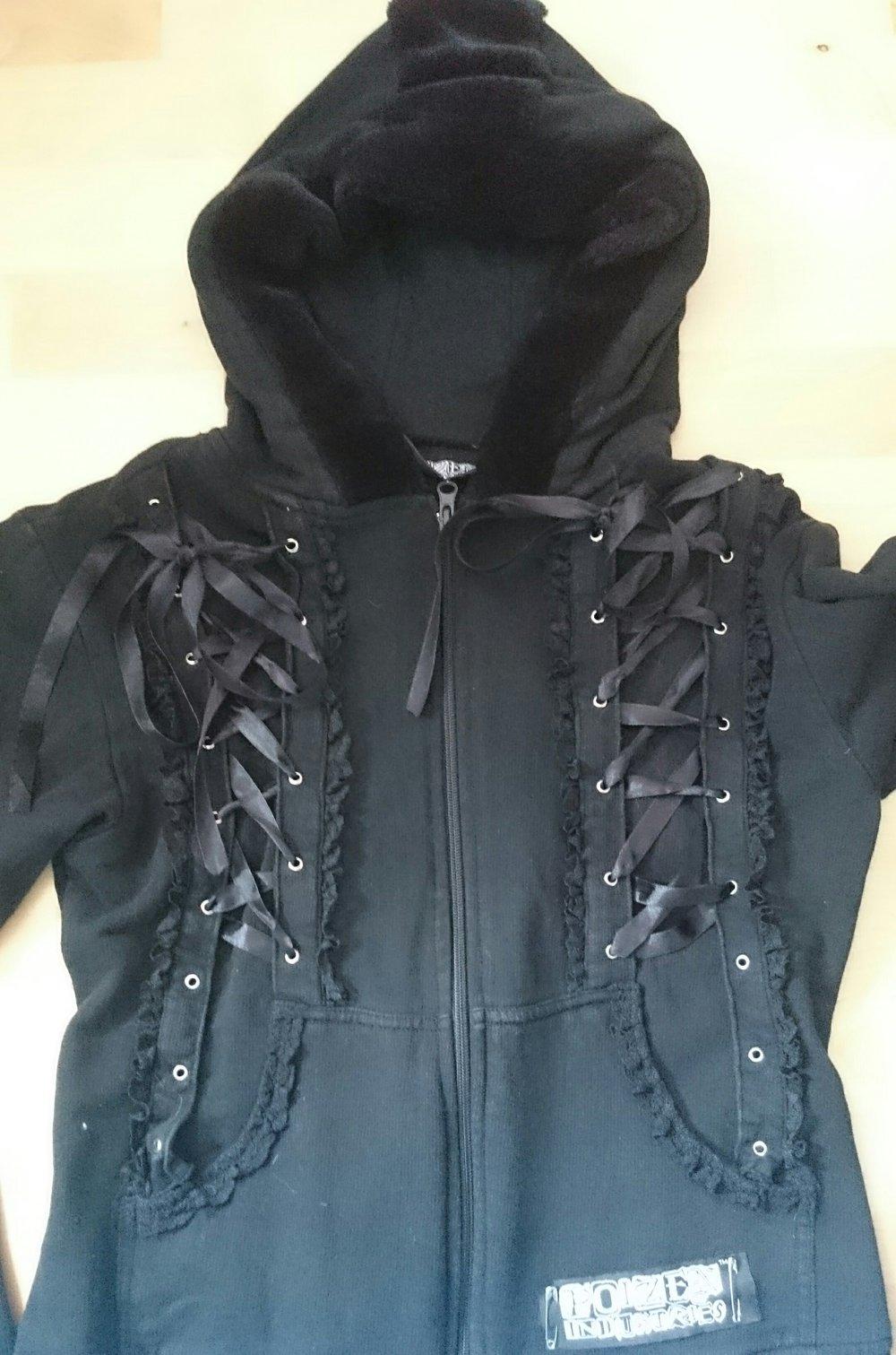Poizen Industries Ausgefallene Sweatshirt Jacke Gothic Emo Kleiderkorb De
