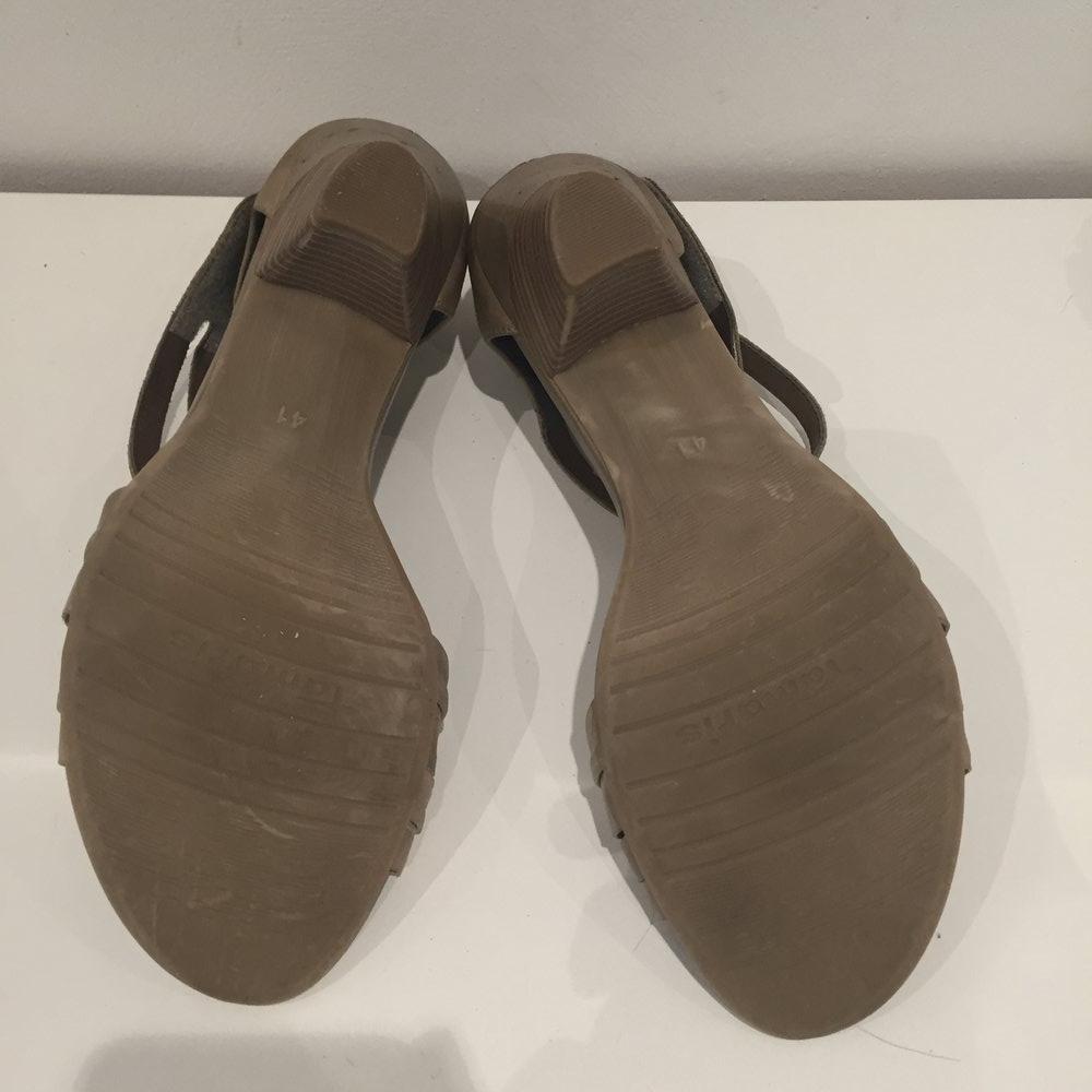 tamaris sandalen beige gr 41. Black Bedroom Furniture Sets. Home Design Ideas