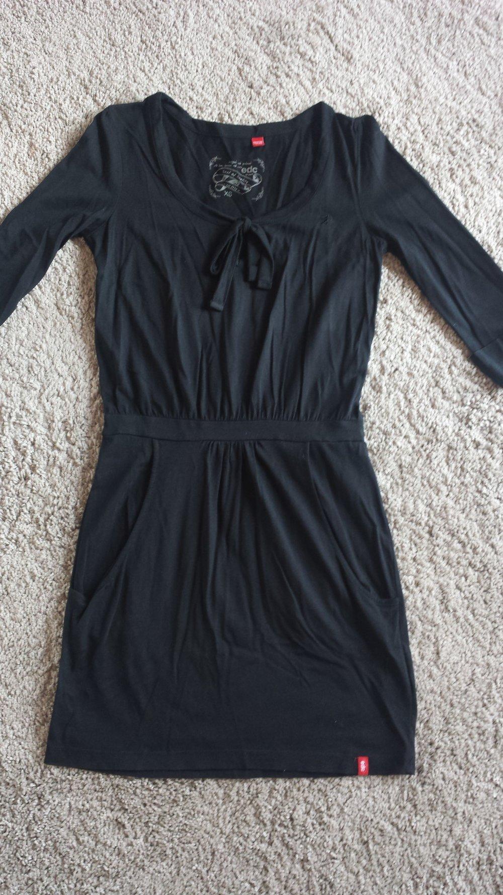 EDC Esprit Tunika Kleid Schwarz XS 34